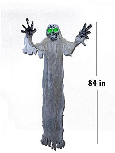 "More buying choices for Hanging White Ghost With Green Eyes Lights Shining Halloween Decoration Perfect Outdoor Halloween Decor Idea to Enjoy Your Party More, Haunt Your Guests 60"" for $<!--$29.99-->"