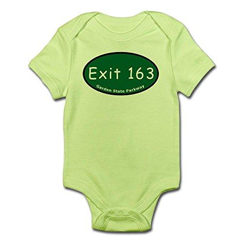 CafePress Exit 163 - NJ 17 - To NJ 4/Infant Bodysuit - Cute Infant Bodysuit Baby - Nj Gsp