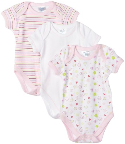 Spasilk Baby Girls' 3 Pack Bodysuit - Girl Prints