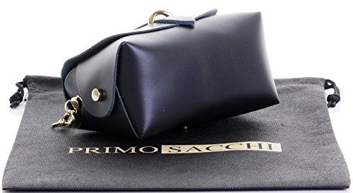 petit cuir Primo en Mini de nbsp;Comprend Micro soirée le de Sac chaîne en Sacchi avec bandoulière marque sac métal épaulement bracelet Noir italien protecteur Xrwzx8wY