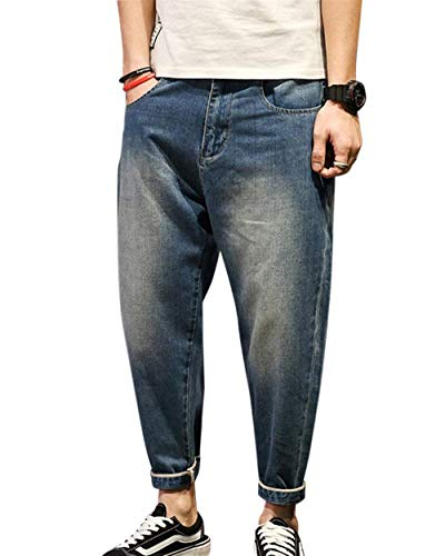 De Mezclilla De Pantalones De Mezclilla Normal Básicos De Ropa Mezclilla Pantalones Para Pantalones Con Hombres Pantalones Alta De Mezclilla Lavado Cintura Casuales Normal Pantalones Mittelblau Haremshose 5q6W1cdc