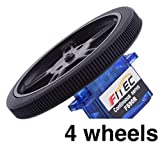 FEETECH FS90R-W (4 Pack) - Micro Servo Wheels   by himalayanelixir