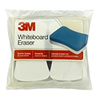 3M Whiteboard Eraser para pizarras blancas, paquete de 2, blanco /azul (581-WBE)