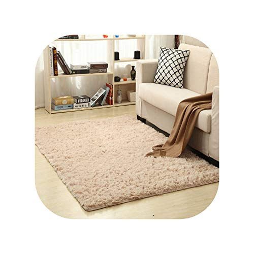 - 9 Colors Solid Rugs Pink Purple Carpet Thicker Bathroom Non-Slip Mat Area Rug for Living Room Soft Child Bedroom Mat Vloerkleed,Light Coffee Carpet,60x160cm