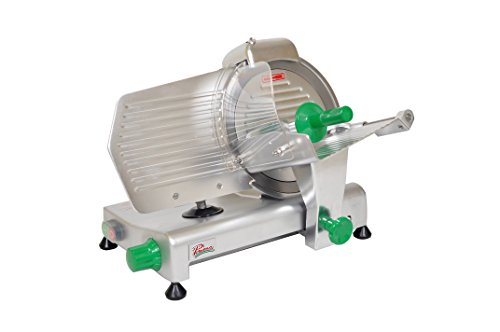 PRIMO PS-10 Anodized Aluminum Meat Slicer, Belt Drive Transmission, 10