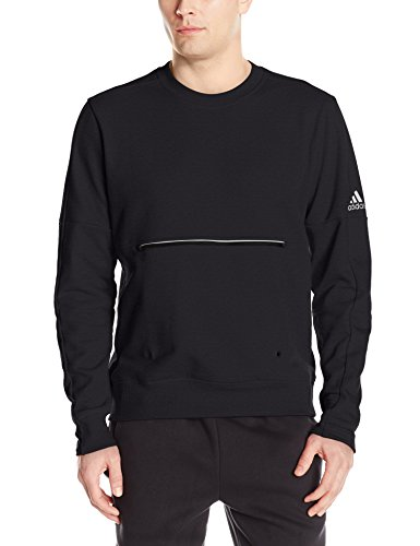 adidas Men's Athletics French Terry Long Sleeve Crew, Black, 4X-Large ()