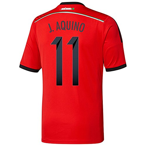 相反するナット裁量Adidas J. AQUINO #11 Mexico Away Jersey World Cup 2014/サッカーユニフォーム メキシコ アウェイ用 ワールドカップ2014 背番号11 J.アキーノ