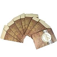 Super Idee 100 stuks vintage mini-geschenkzakjes, enveloppen van mooi papier, geschenkzakjes, zakjes, papieren zakken…