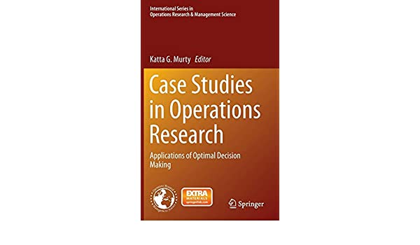 Amazon com: Case Studies in Operations Research: Applications of