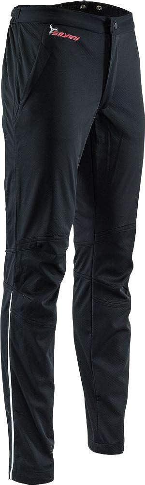 SILVINI Damen Mia Softshell Hose mit Innenschicht Bambus Struktur und 2 Reißverschlusstaschen Schwarz