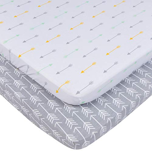 Pack n Play Sheets Set for Playard and Mini Crib Mattresses by BaeBae Goods (Image #1)