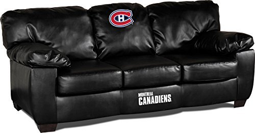 Imperial Officially Licensed NHL Furniture: Classic Leather Sofa/Couch, Montreal Canadiens