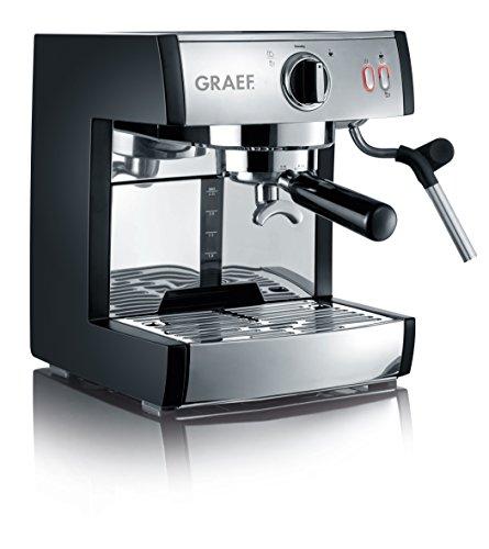 Graef Pivalla Cafetera espresso, 230 W, 2.5 litros, Acero Inoxidable, Gris