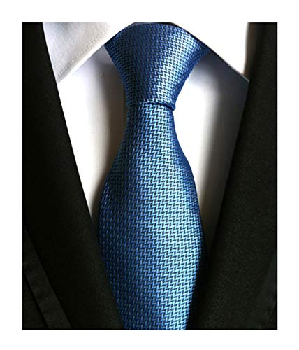 (Men's Blue Pattern Ties Formal Solid Color Grooms Christmas Soft Dances Neckties)