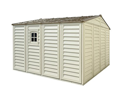 Duramax Building Products WoodBridge Plus 10 ft. x 10 ft. Vinyl Storage Shed with Foundation by Duramax (Image #2)