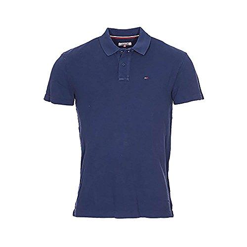 Hilfiger Denim Damen Unterrock Thdm Basic Rlx Gmd Polo S/S 14, Mehrfarbig (Navy Blazer), 46 (Herstellergröße: LG)