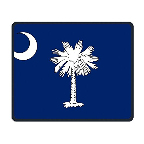 South Carolina Flag Comfortable Rectangle Rubber Base Mousepad Gaming Mouse Pad