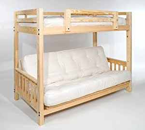 queen futon bunk bed complete w two 9