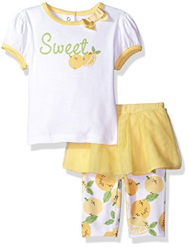 Gerber Baby Girls Shirt and Tutu Capri Set, Sweet, 18 Months (Clothes Girls Baby Capri)
