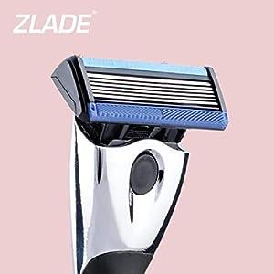 Zlade 6 Pro Shaving Razor For Men (Titanium and Diamond Coated Blades Made in Germany)