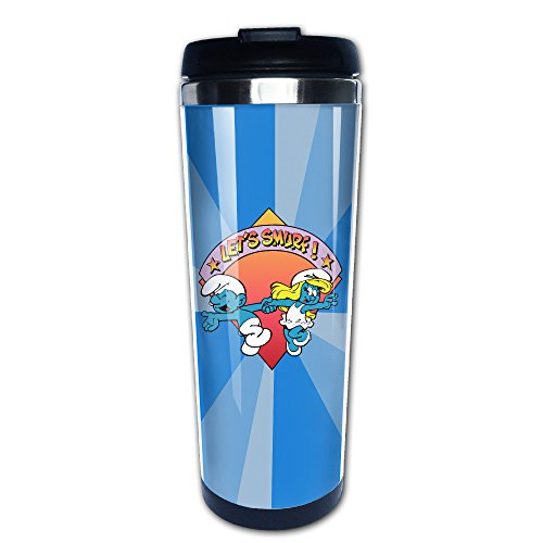 (Zengtaoqi Shini Smurf Coffee Thermos/One Hand Vacuum Mug/Stainless Steel Mug)