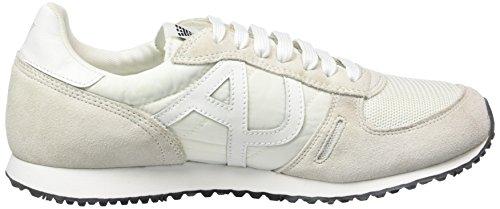 Armani Jeans C652432 Herren Low-Top Weiß (BIANCO - WHITE F1)