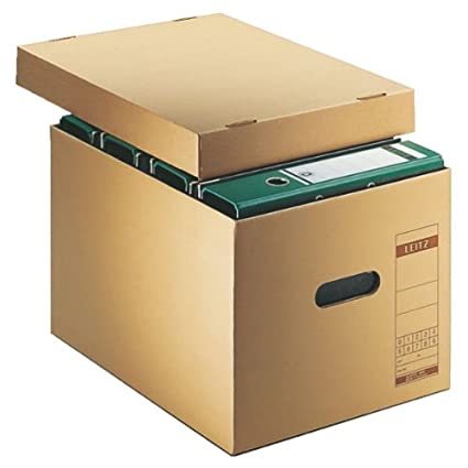 Leitz 60810000 Cartón Marrón archivador organizador - Organizador de almacenaje (Cartón, Marrón, Apaisado