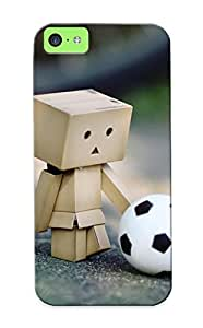 Top Quality Protection Danbo With A Football Case Cover For Iphone 5c With Appearance/best Gifts For Christmas Day