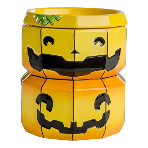 Boneyard Jacks Spooky / Adorable Wax Warmer Jack-O-Lantern/ Stacked Pumpkins -