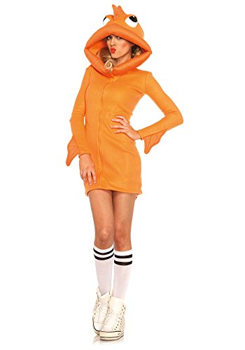 [Leg Avenue Women's Cozy Goldfish Costume, Orange, Large] (Fisherman Costume)