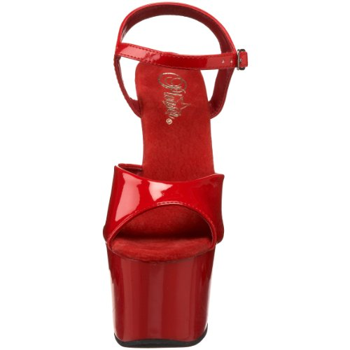 Damen Sandalen Rot Red Pat Plateau Red 309 Rot SKY Pleaser wEqAIUI