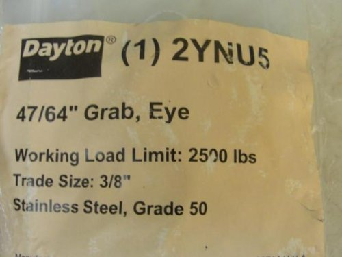 Dayton 2YNU5 LOT-2, Hook, Eye, 3/8''