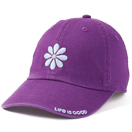 Life is Good Chill Cap Baseball Hat Collection,Daisy Petal,Happy Plum