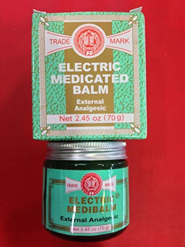 (FEI FAH Electric Medibalm Net 2.45 oz (70g) Ointments, Creams & Oils,Muscular Aches, Stiff Neck, Headaches, Toothaches, Colds, Stuffy Nose, Insect Bites, Bruises, Sores, Shoulder)