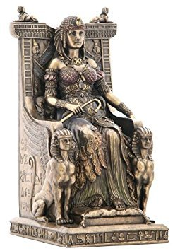 Unicorn Studios WU75637V4 Egyptian Queen Sitting in the Throne Statue