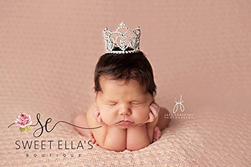 Price comparison product image Reese Newborn Mini Rhinestone Crown,  Baby Photography Prop,  Baby Shower Gift,  Cake Topper,  Baby Girl Photo Prop