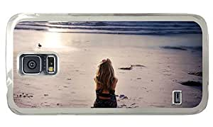 Hipster Samsung Galaxy S5 Case carry watching sunset PC Transparent for Samsung S5