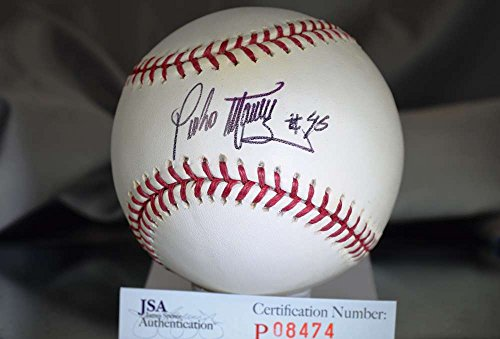 PEDRO MARTINEZ JSA CERT SIGNeD MAJOR LEAGUE BASEBALL AUTOGRAPH AUTHENTIC by KHW HALL OF FAME GALLERY