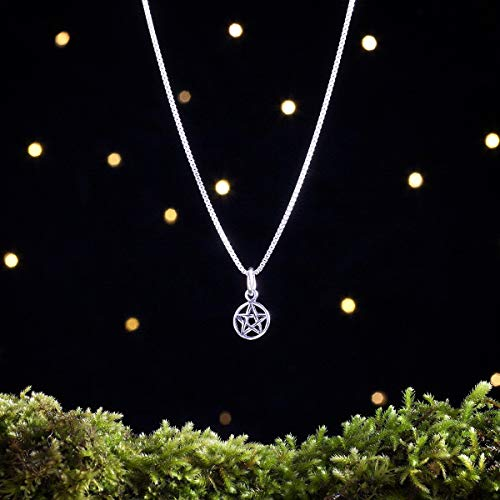 (Sterling Silver Tiny Pentagram, Pentacle - (Charm, Necklace, or)