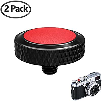 2-Pack Shutter Button Compatible with Fuji Fujifilm X-T4 X-T30 X-T20 X-T3 X-T2 X-PRO3 X-PRO2 X100S X100T X100F X30 X-E3 Sony RX1R RX10 II III IV Leica M10 Silver VKO Camera Soft Release Button