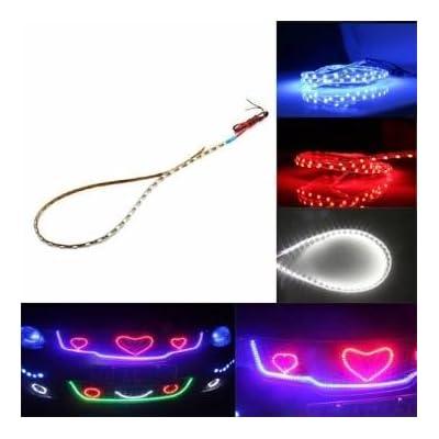 3528 1210 45 centimètres 45smd décoration LED blanche automobile lumière de bande douce flexible imperméable