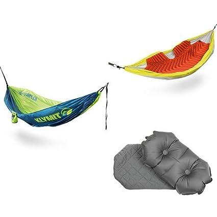 Amazon.com: Campers Hamaca con hamaca, almohadilla aislante ...
