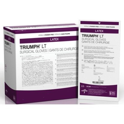 Medline MDS108060LT Triumph LT Sterile Powder-Free Latex Surgical Glove, Size 6, White (Pack of 200) by Medline  B00427PH7S