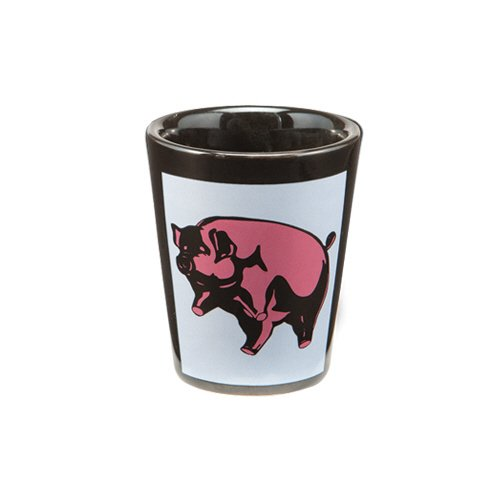Vandor 36018 Pink Floyd Animals Ceramic Shot Glass, Black ()