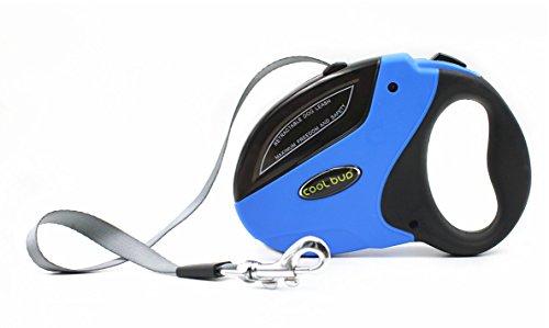 OUTAD Roll-Leine Design, Automatic Hundehalsband Gurt 5 m für für Hunde Katzen und andere Kleintiere bis max. 50 kg (L, Blau)