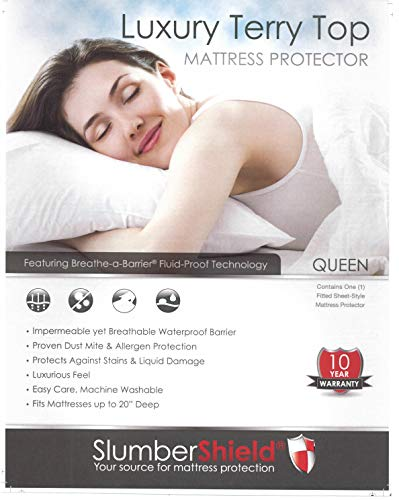 Slumber Shield Fitted Mattress Protector (Twin Extra Long)