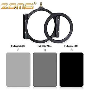 ARBUYSHOP ZOMEI 5 en 1 Plaza ND2 + ND4 + ND8 + Adaptador 82mm soporte del anillo + Filtro cuadrado Para Cokin Z LEE