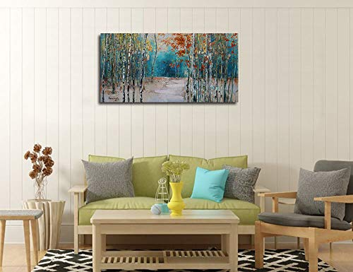 3e2dca5f236 Ardemy Canvas Wall Art White Birch Trees Picture Painting One Panel ...