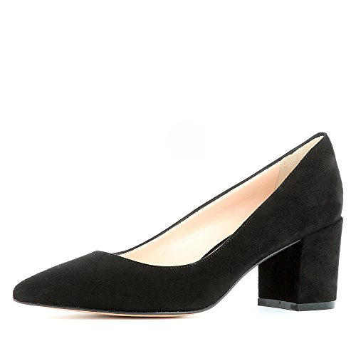 para Romina vestir de negro de mujer Piel Otra Zapatos Evita Shoes 57n6Iqaw8