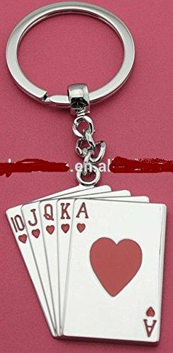 Juego de cartas, de llavero Poker Casino rojo Peach Metal ...